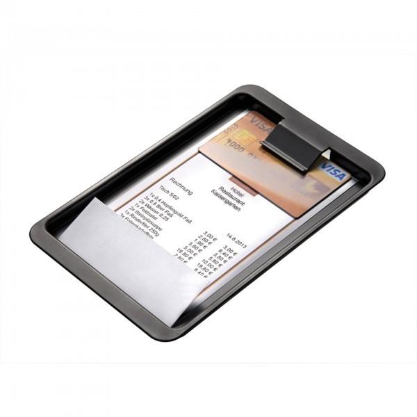 Rechnungstablett - ABS - schwarz - APS 30108