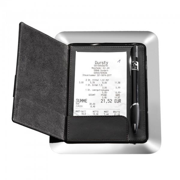 Rechnungstablett - Edelstahl - hochglanzpoliert - APS 30109