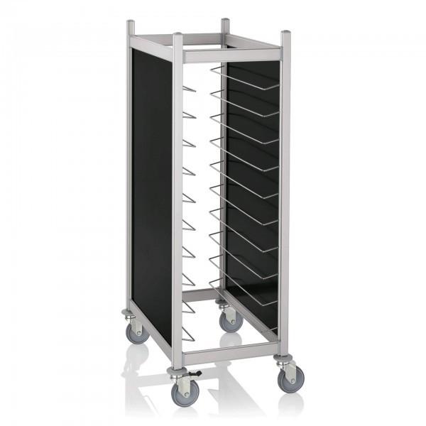 Tablettwagen - Aluminium - passend für 20 Tabletts 45,5 x 35,5 cm - premium Qualität - 1966.452
