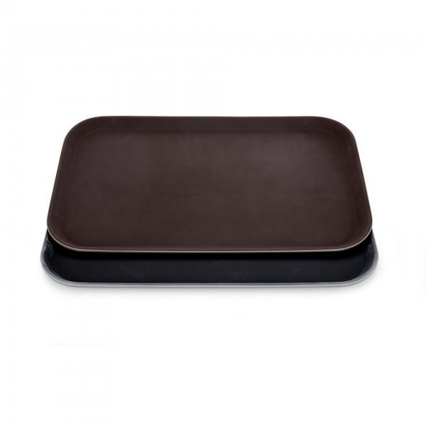 GN-Tablett - Polyester - braun oder schwarz - mit rutschhemmender Oberfläche