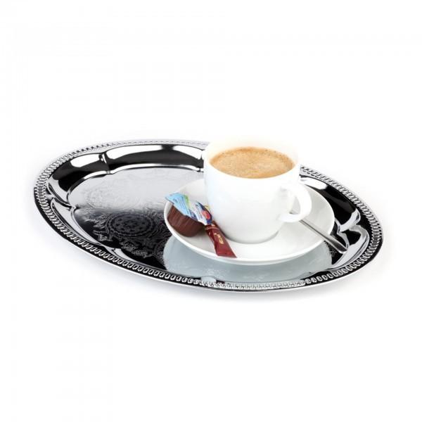 Serviertablett - Metall, verchromt - Serie Kaffeehaus - APS 30114