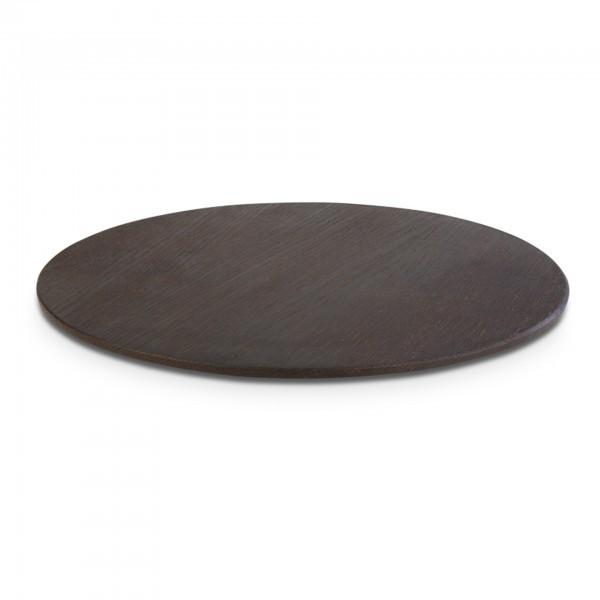 Tablett - Holz - Eiche, dunkel - rund - Serie Wood - APS 15301