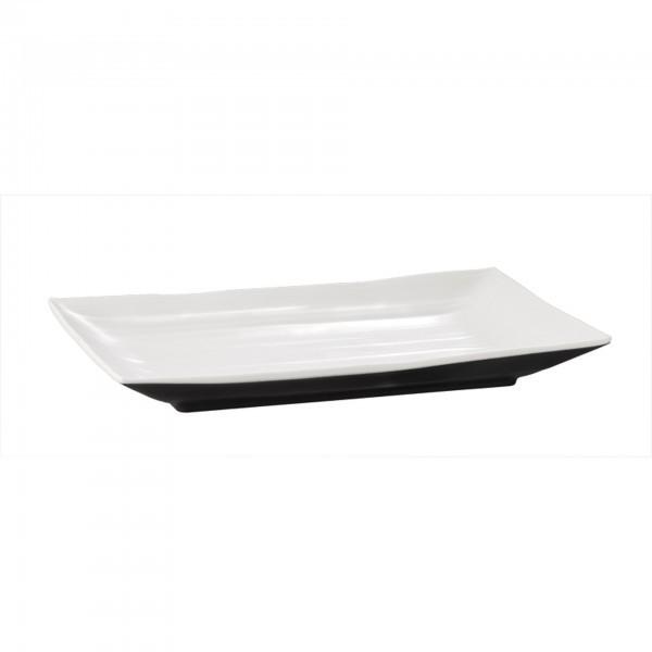 Tablett - Melamin - schwarz, weiss - rechteckig - Serie Halftone - APS 84124