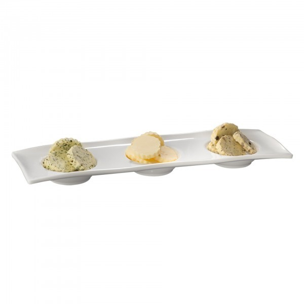 Tablett - Melamin - weiß - Serie Gourmet - APS 84017