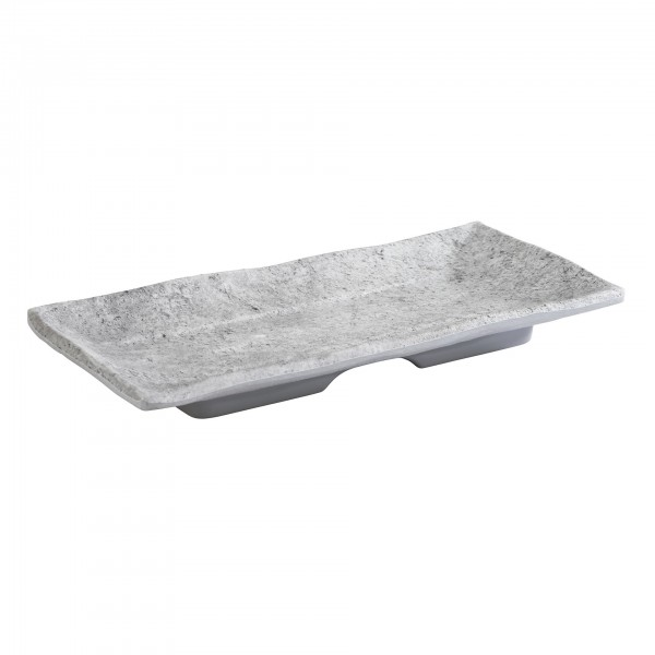 Tablett - Melamin - grau - rechteckig - Serie Element - 84822