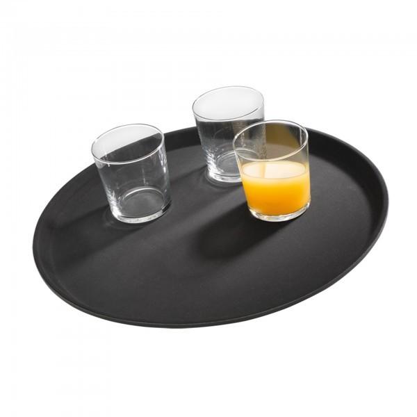 Tablett - glasfaserverstärkter Kunststoff - schwarz - rund - Serie Gastro - APS 00547