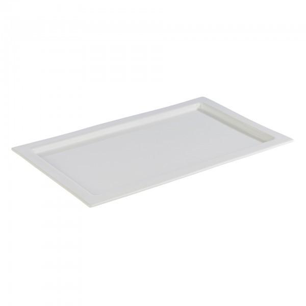 GN-Tablett - Porzellan - weiß - eckig - Serie Frames - APS 82355