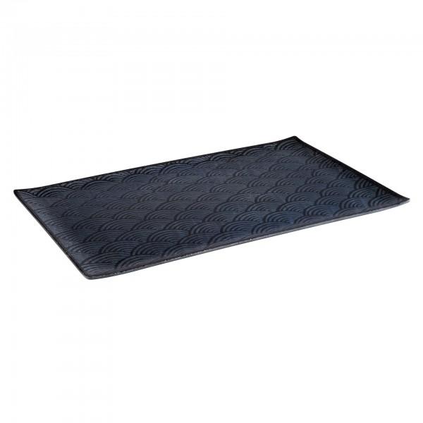 GN-Tablett - Melamin - schwarz - rechteckig - Serie Dark Wave - 84900