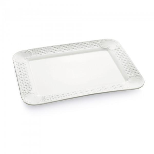 Servierplatte - Porzellan - mit Dekorrand