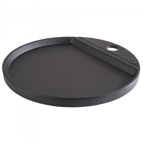 Tablett - Melamin - schwarz - rund - Serie Slate - 84961