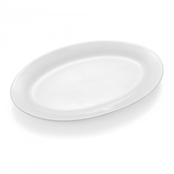 Servierplatte - Serie Asolia - Porzellan - oval - extra preiswert