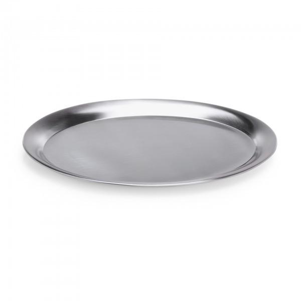 Tablett - Chromnickelstahl - oval - mit bordiertem Rand