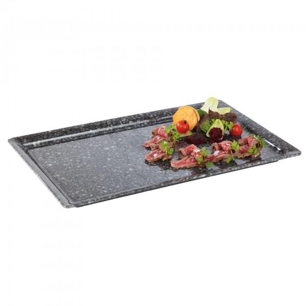 GN-Tablett - Melamin - grau - rechteckig - Serie Pure Granit - 84440