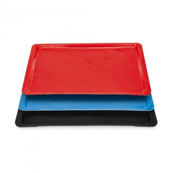 GN-Tablett - Serie 9605 - Polyester - rot, blau, schwarz - Stapelnocken